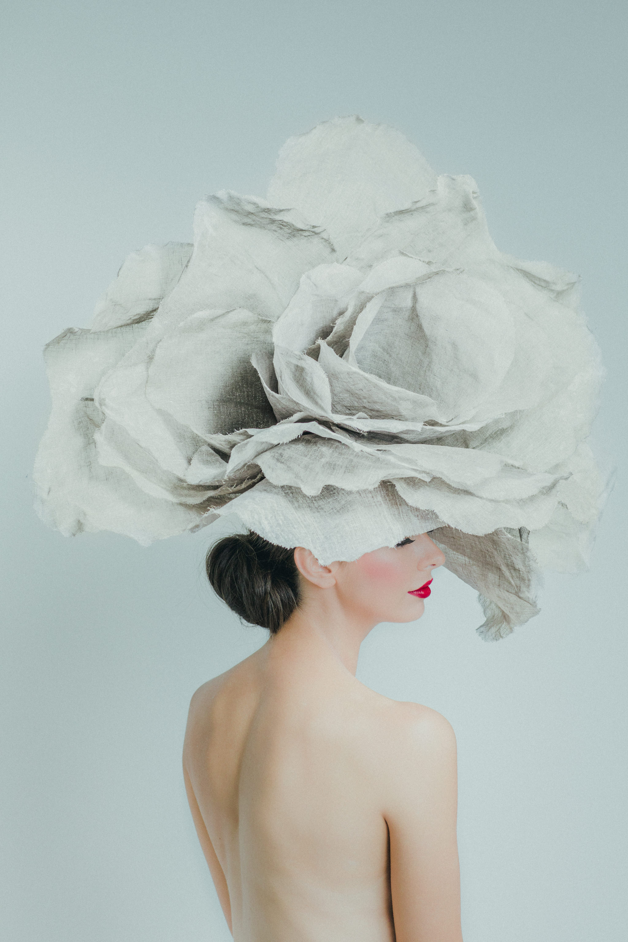 In Bloom - Patrick Demarchelier inspired shoot - just love the big flower in this photograph