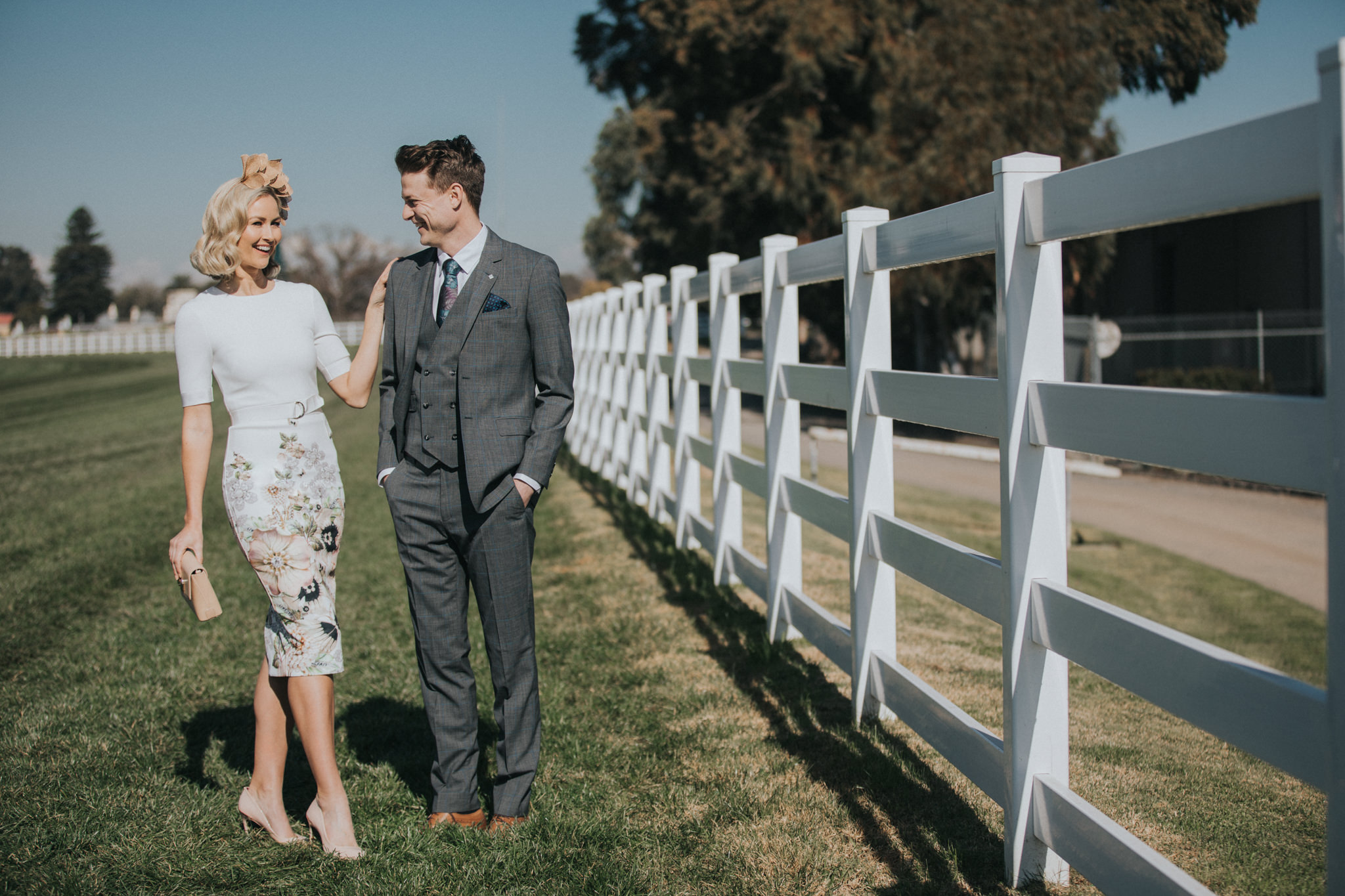 spring racing photoshoot - on the racecourse