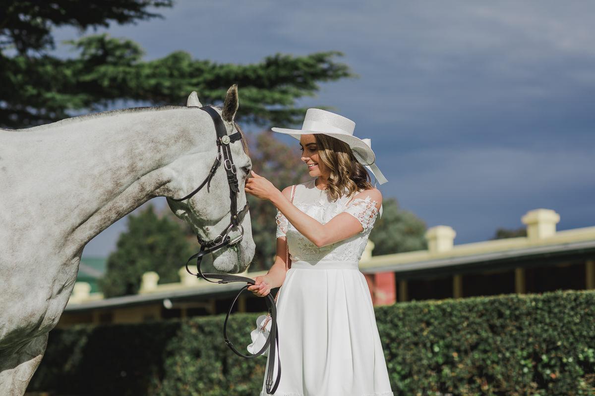 Horse in fashion shoot